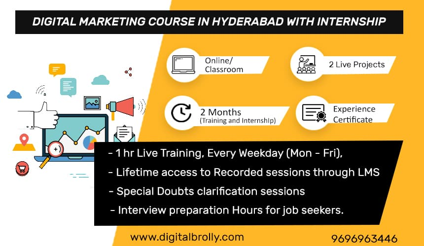 Digital marketing course in hyderabad with internship