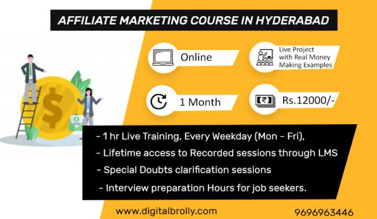 Affiliate Marketing Course in Hyderabad Details