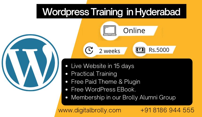 WordPress training in Hyderabad